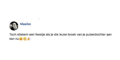 Maaike fb comment